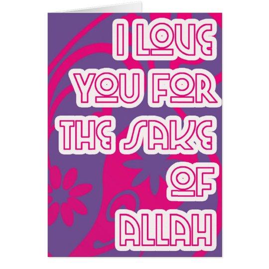 love for sake of Allah Card