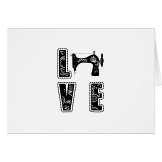 love for sewing card