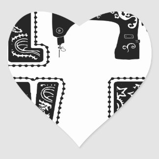 love for sewing heart sticker