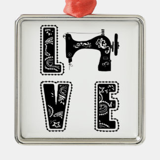 love for sewing metal ornament