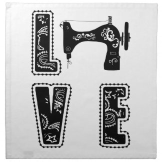love for sewing napkin