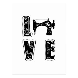love for sewing postcard