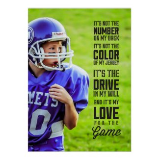 Love for the Game Poster with Your Photo