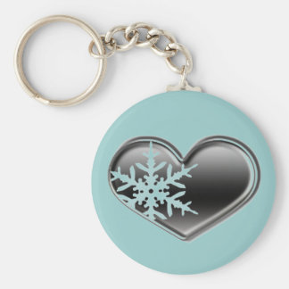 love for winter - snowmobiling basic round button keychain