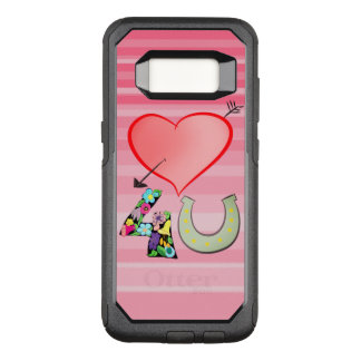 Love For You Symbol Heart Floral Horseshoe Luck OtterBox Commuter Samsung Galaxy S8 Case