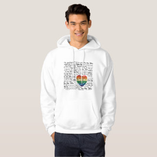 Love foreign languages mens hoodie hood sweatshirt