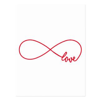 Love forever, red infinity sign, never ending love postcard
