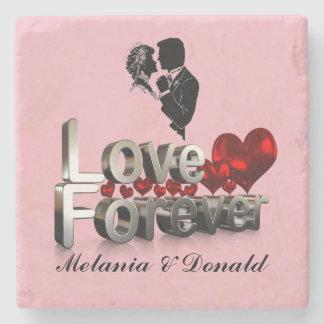 LOVE FOREVER STONE COASTER