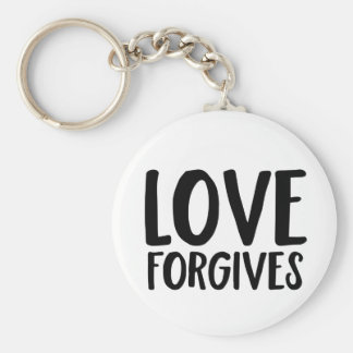 Love Forgives Basic Round Button Keychain