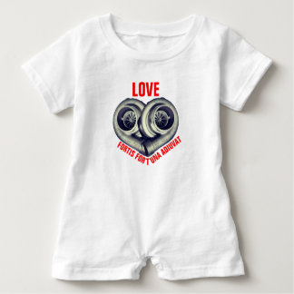LOVE: FORTIS FORTUNA AUDIVAT BABY ROMPER