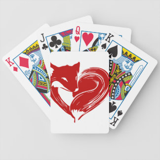 Love Foxes Bicycle Playing Cards