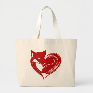 Love Foxes Large Tote Bag