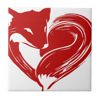 Love Foxes Tile