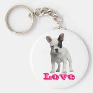 Love French Bulldog Puppy Dog Keychain