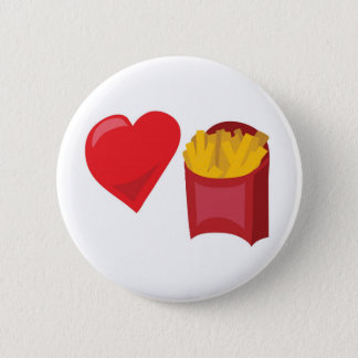 Love Fries!  Customizable: 2 Inch Round Button