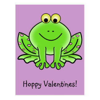 Love Frog Funny Greeting: Hoppy Valentine's Day Postcard
