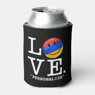 Love From Armenia Smiling Flag Can Cooler