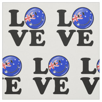Love from Australia Smiling Flag Fabric