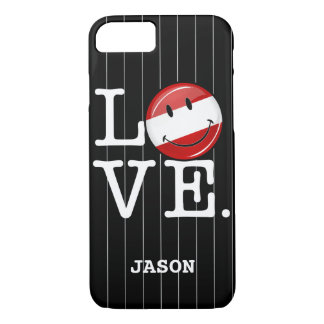 Love From Austria Smiling Flag iPhone 7 Case