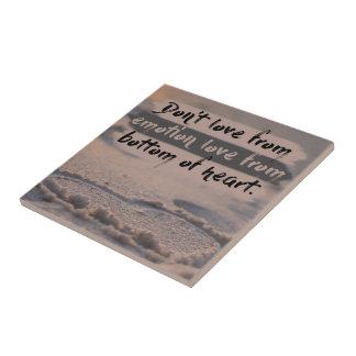 Love From Bottom Of Heart Tile