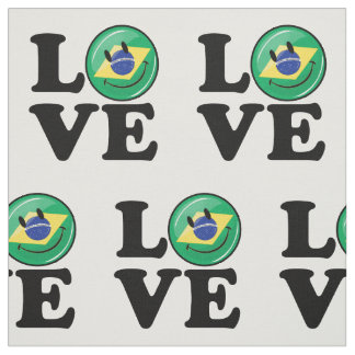 Love from Brazil Smiling Face Fabric