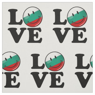 Love From Bulgaria Smiling Flag Fabric