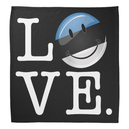 Love From Estonia Smiling Flag Head Kerchiefs