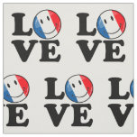 Love From France Smiling Flag Fabric