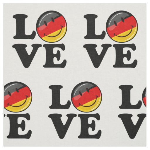 Love From Germany Smiling Flag Fabric