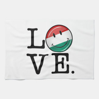 Love From Hungary Smiling Flag Hand Towels
