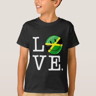 Love from Jamaica Smiling Flag T-Shirt