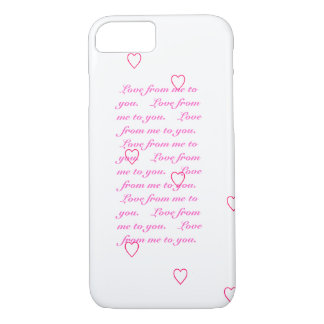 Love from me to you iPhone 7 Cover