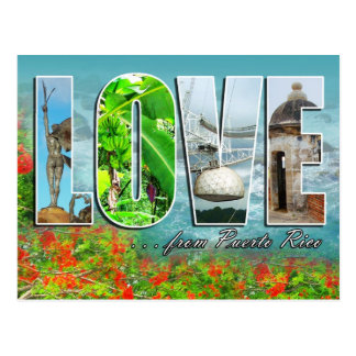 LOVE from Puerto Rico Postcard