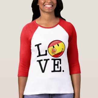Love From Spain Smiling Flag T-Shirt