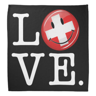 Love From Switzerland Smiling Flag Bandana