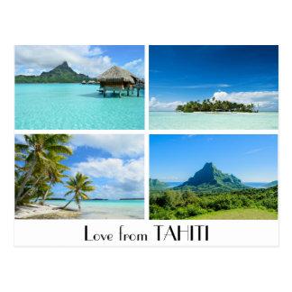 Love from Tahiti landscapes postcard