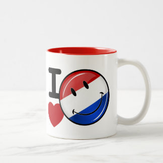 Love From the Netherlands Smiling Flag Two-Tone Coffee Mug