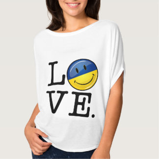 Love From the Ukraine Smiling Flag T-Shirt