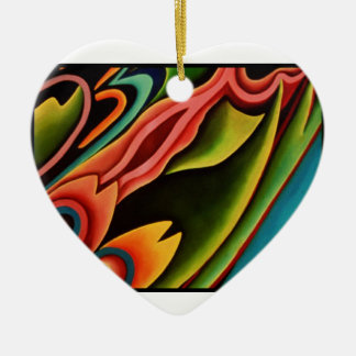 LOVE FROM WOODTOCK CERAMIC HEART ORNAMENT
