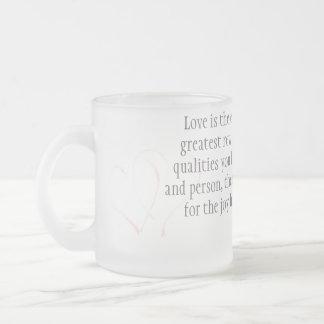 Love Frosted Glass Coffee Mug