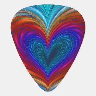 Love Full Of Color Fractal Guitar Pick