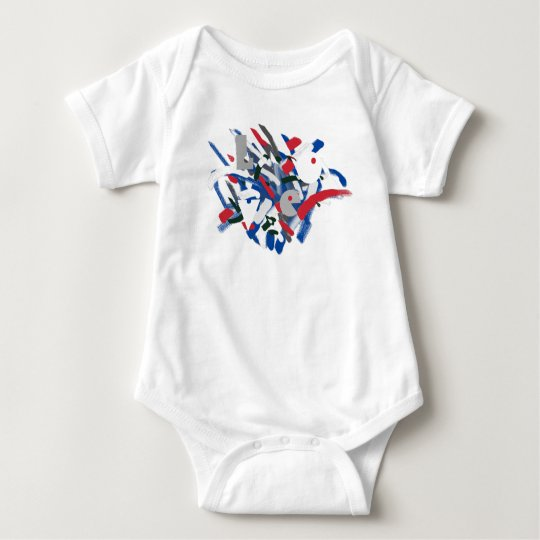 Love Funky Paint Brushes Baby Bodysuit