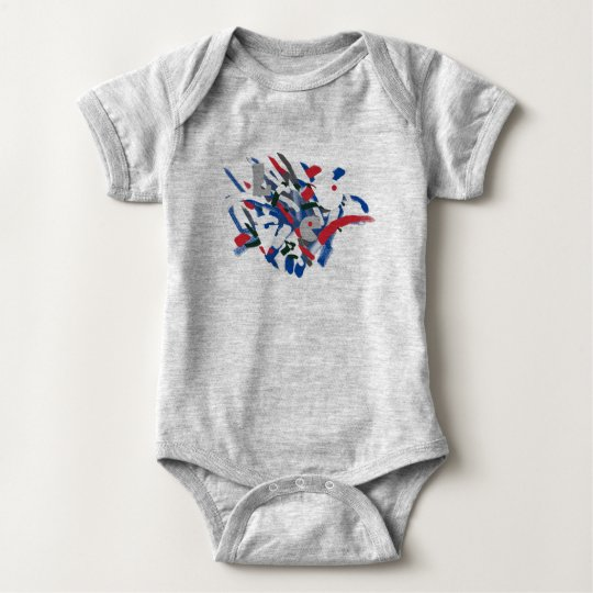 Love Funky Paint Brushes Baby Toddler Bodysuit