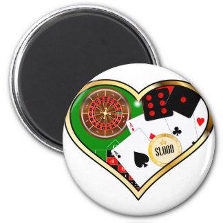 Love Gambling 2 Inch Round Magnet