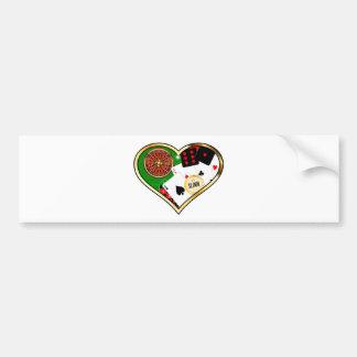 Love Gambling Bumper Sticker