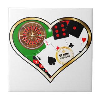Love Gambling Ceramic Tile