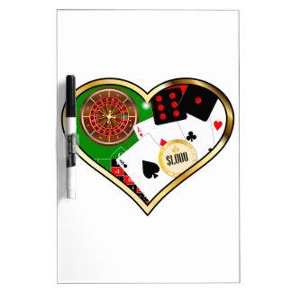 Love Gambling Dry Erase Board