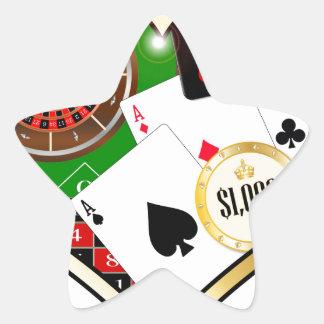 Love Gambling Star Sticker