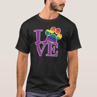 Love-Gay-Pawprint- T-Shirt
