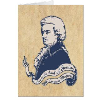 Love = Genius -Mozart Card